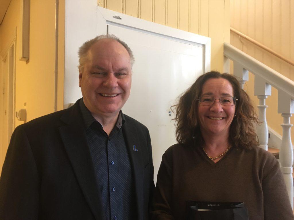 Kjell Fransson (L) och Caroline Unéus (M) | Foto: Lars-Johan Sunnerberg